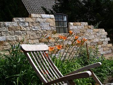 gelber sandstein, Garten und Bauen